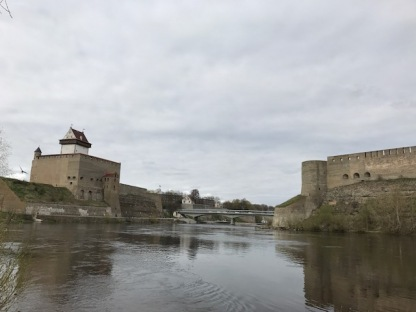 Left- Narva Castle, Right Ivangorod Castle