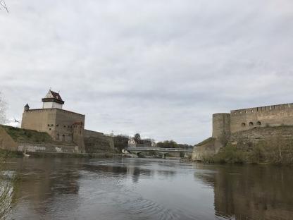 Left- Narva Castle, Right Ivangorod Castle
